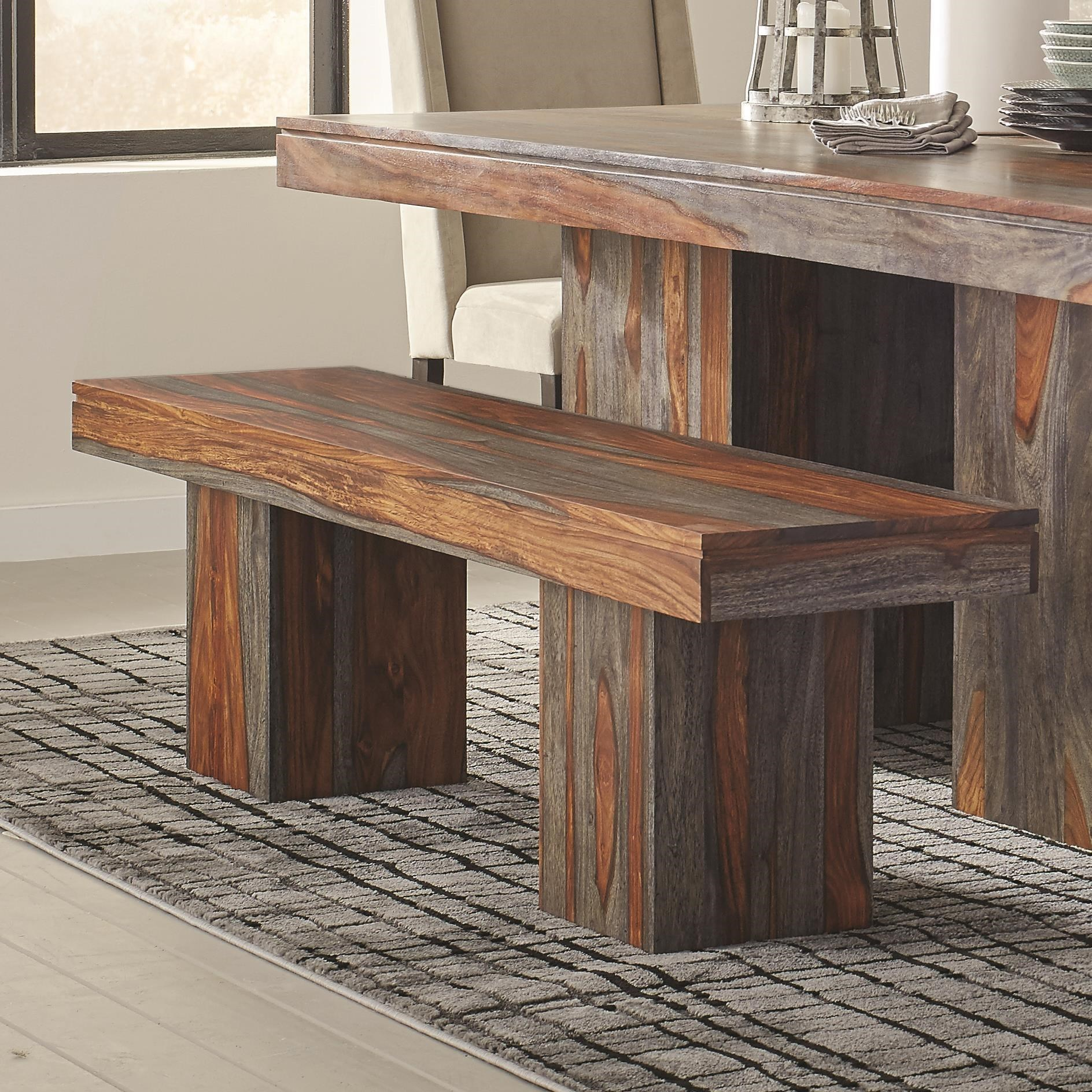 Beau Scott Living Binghamton Sheesham Rustic Dining Bench
