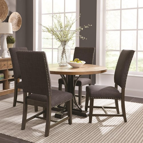 Scott Living Bishop Round Table And Parson Chair Set