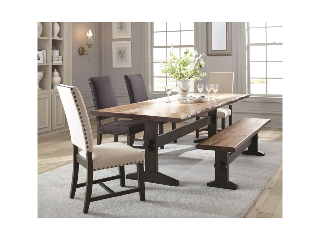 Scott Living Burnhamdining Table Set With Bench
