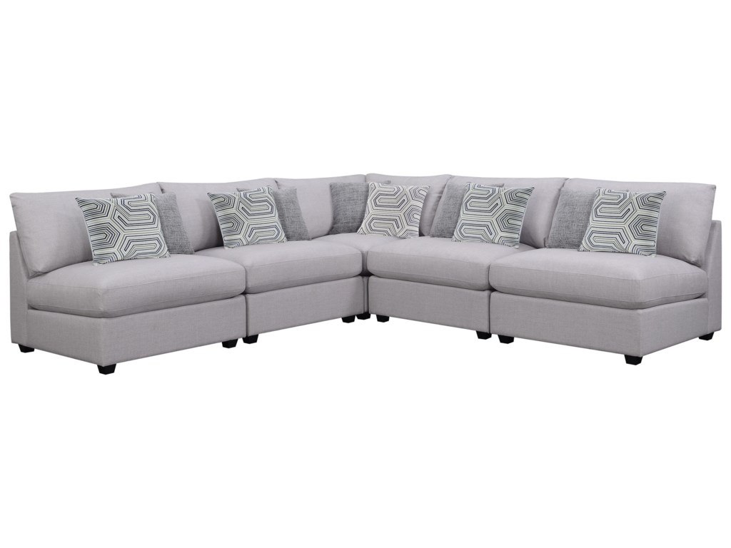 Charlotte Contemporary Modular Sectional by Scott Living at Del Sol  Furniture