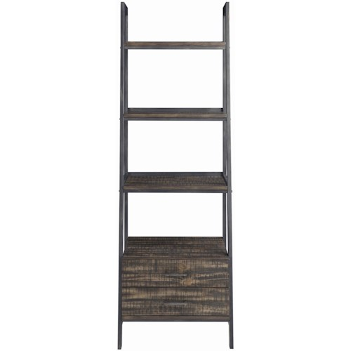 Scott Living Deponte Industrial Tapering Bookcase With Two Drawers