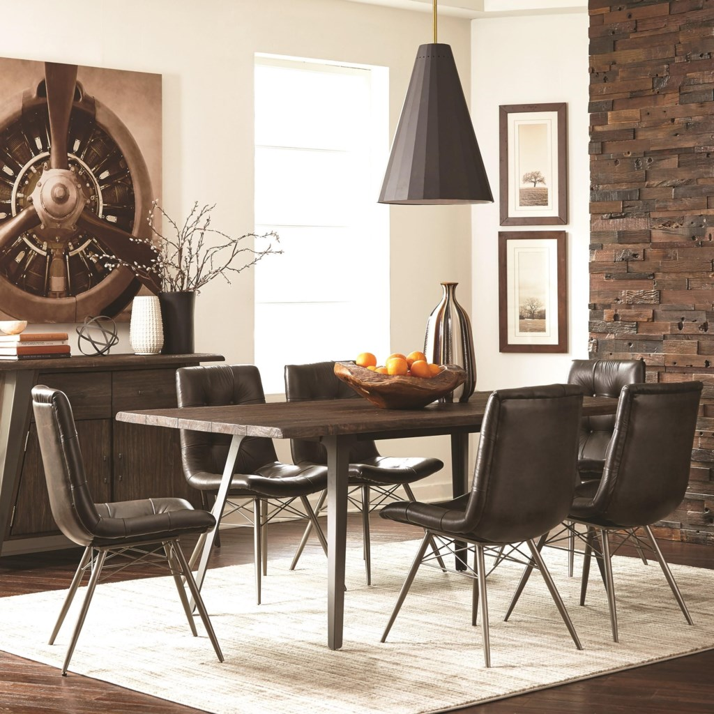 Fremont industrial dining table set by scott living