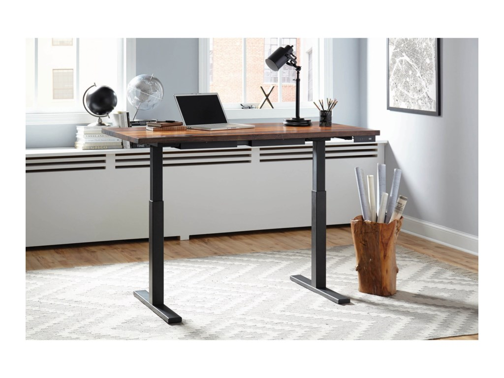 Scott Living Gaines Live Edge Standing Desk With Adjustable Height