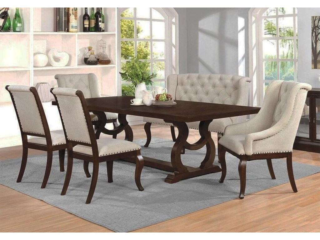 Scottsdale 6pc Dining Set W Bench Rotmans Table Chair Set