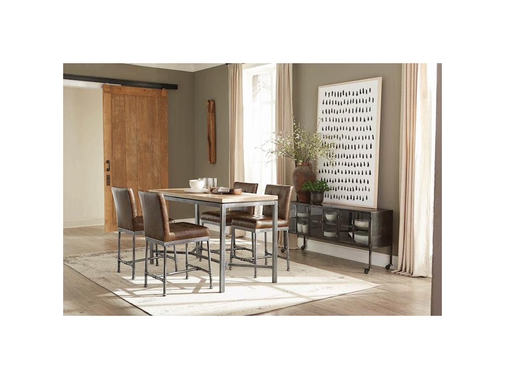 Scott Living HeatonFive Piece Counter Height Table Set