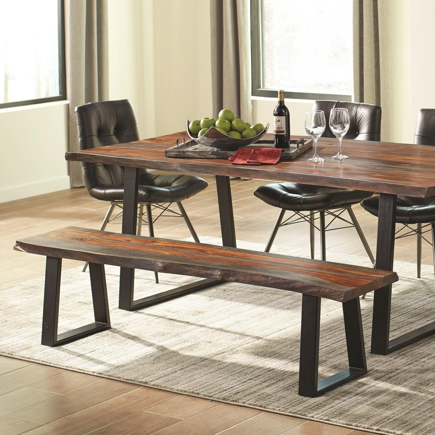 Scott Living Jamestown Rustic Live Edge Dining Bench