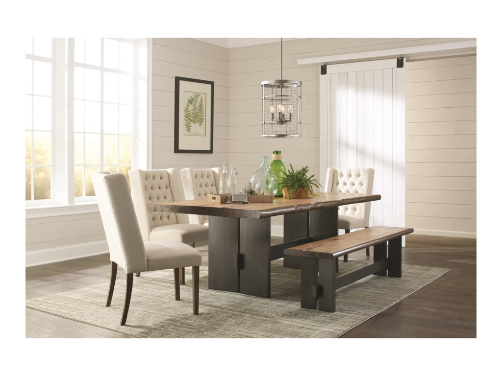 Scott Living MarquetteDining Table Set with Bench