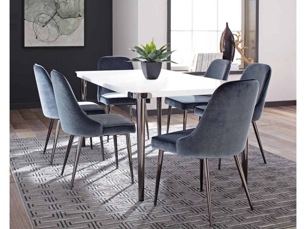 Riverbank Contemporary Dining Room Table Set By Scott Living