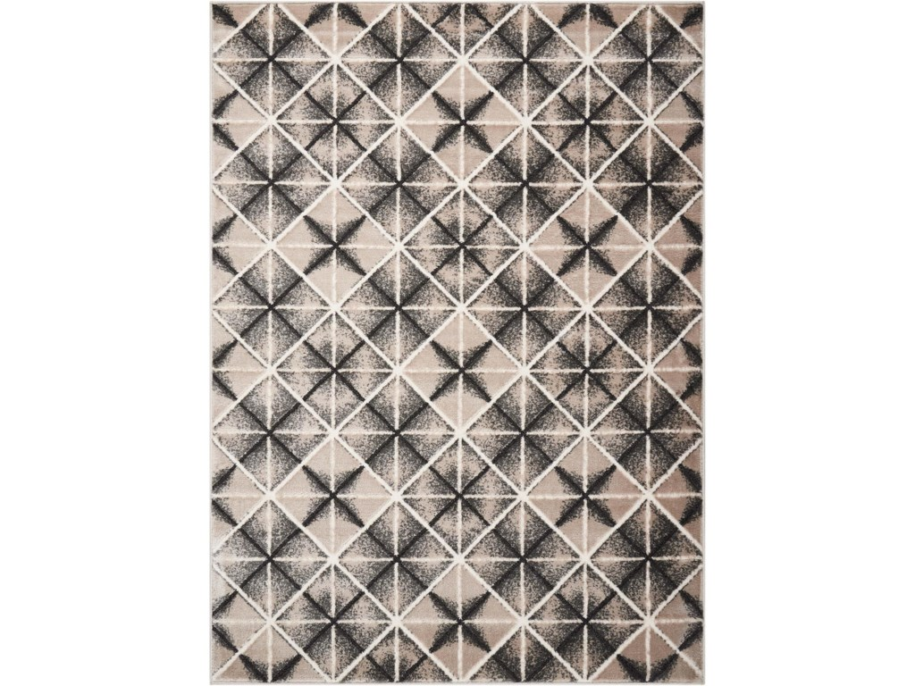 Scott Living Rugs8' x 10' Charcoal and Light Grey Rug
