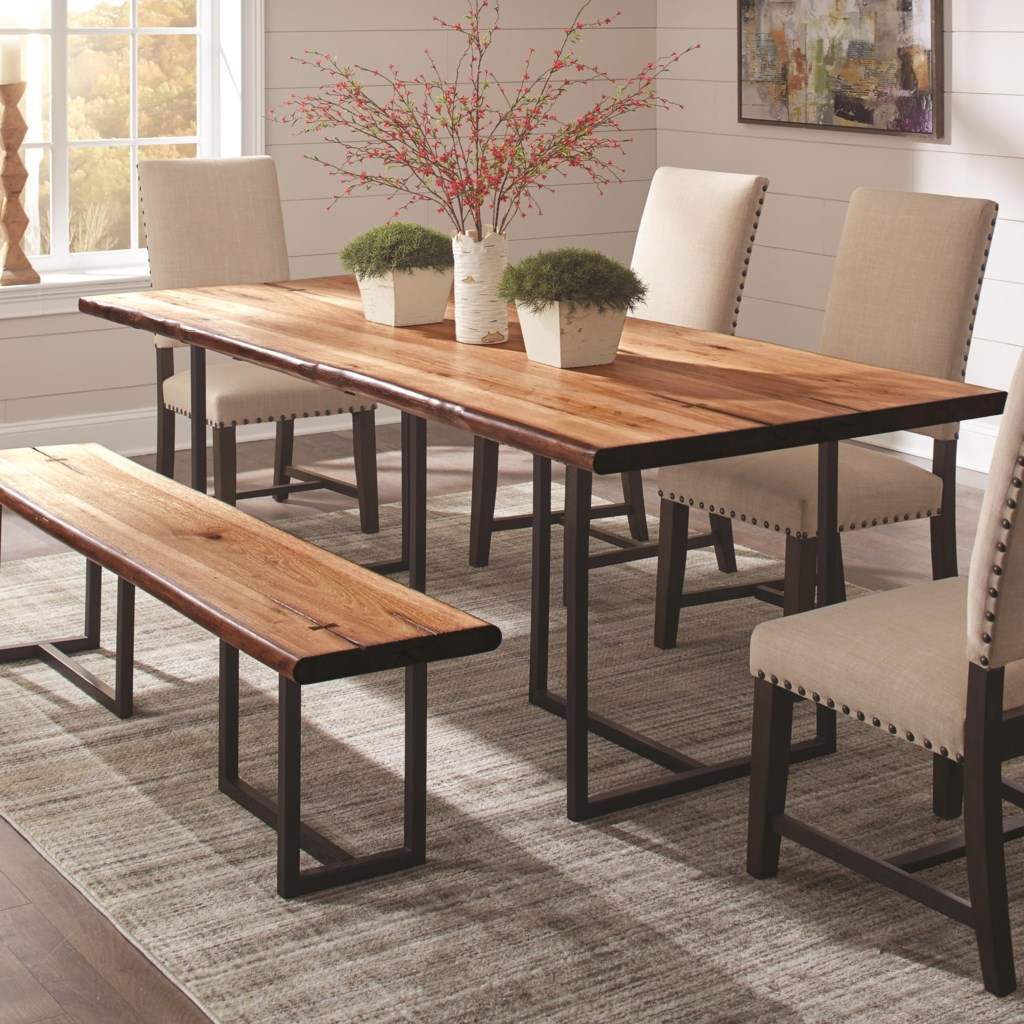 Scott Living Suthers Rustic Live Edge Dining Table Value City