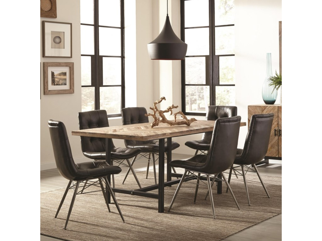 Scott Living ThompsonTable and Six Chair Set
