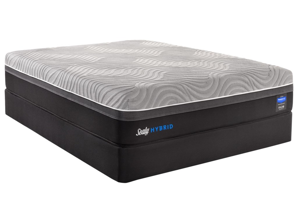 Sealy Performance Z7 Kelburn IIQueen Hybrid Mattress Set