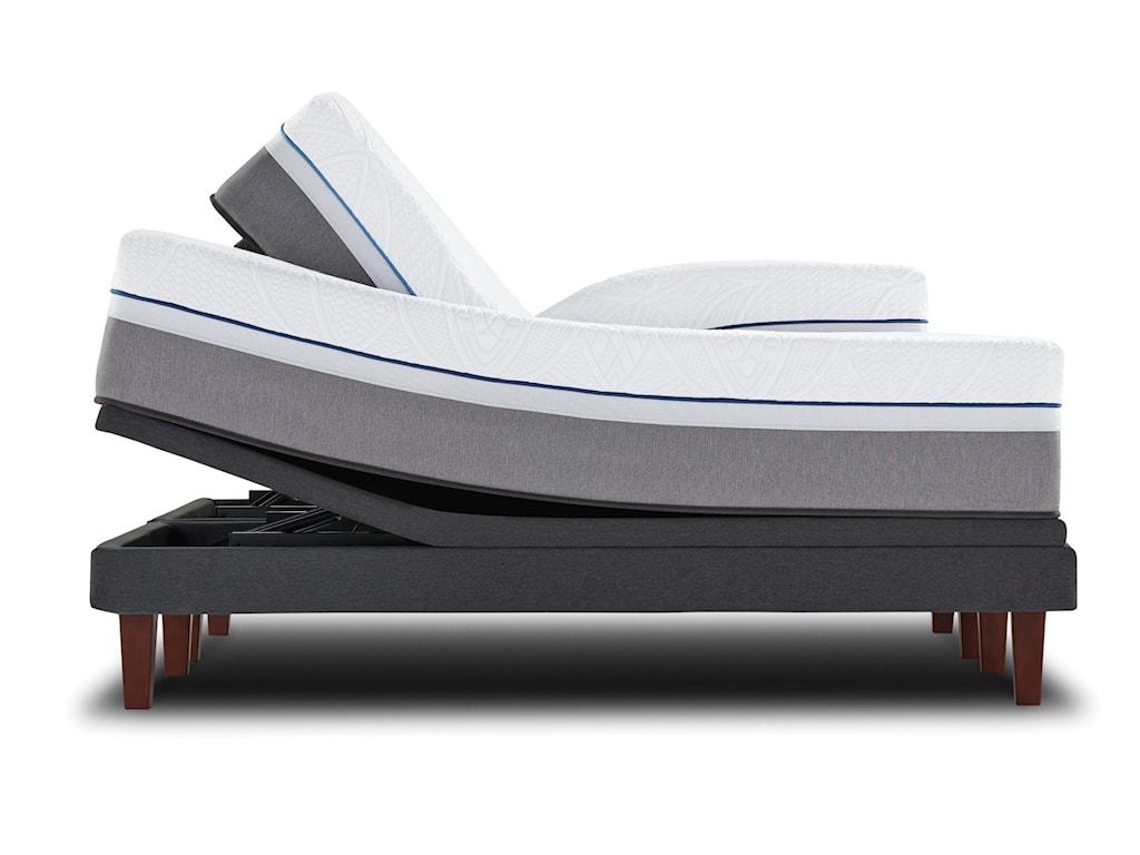 Sealy CopperTwin XL Plush Hybrid Mattress Adj Set