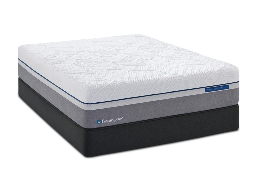 Posturepedic Hybrid M3 Queen 13 1 2 Plush Mattress And 5 Low Profile Foundation By Sealy