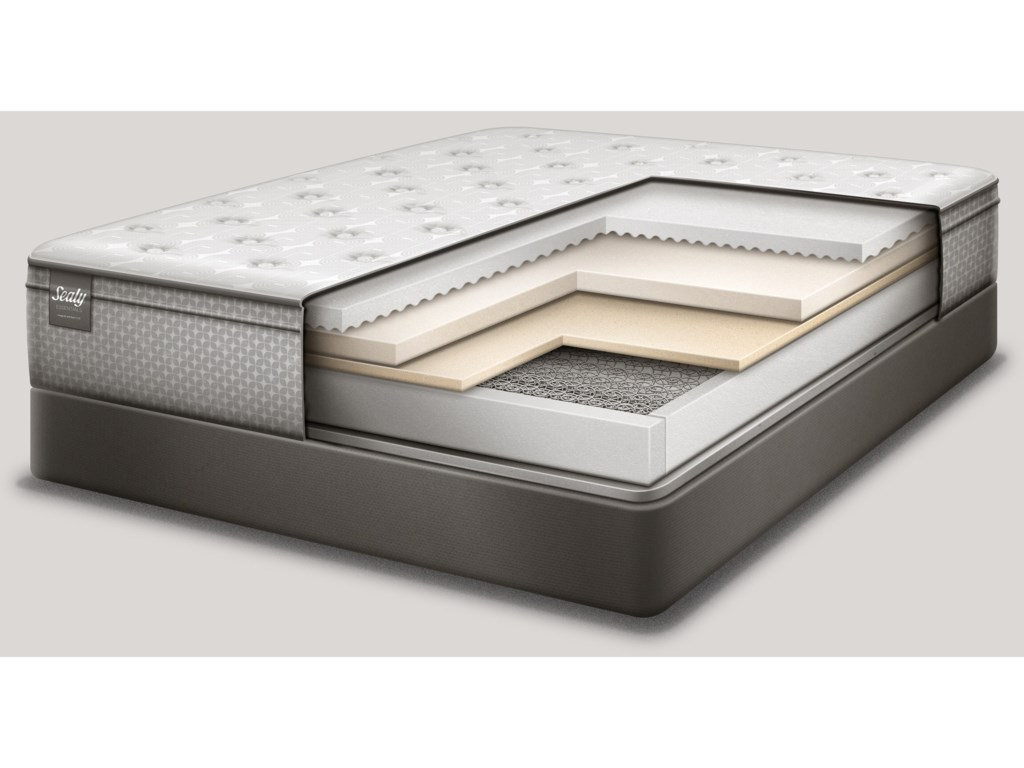 Sealy Deaton Plush EPTKing Plush FxPT Innerspring Mattress Set