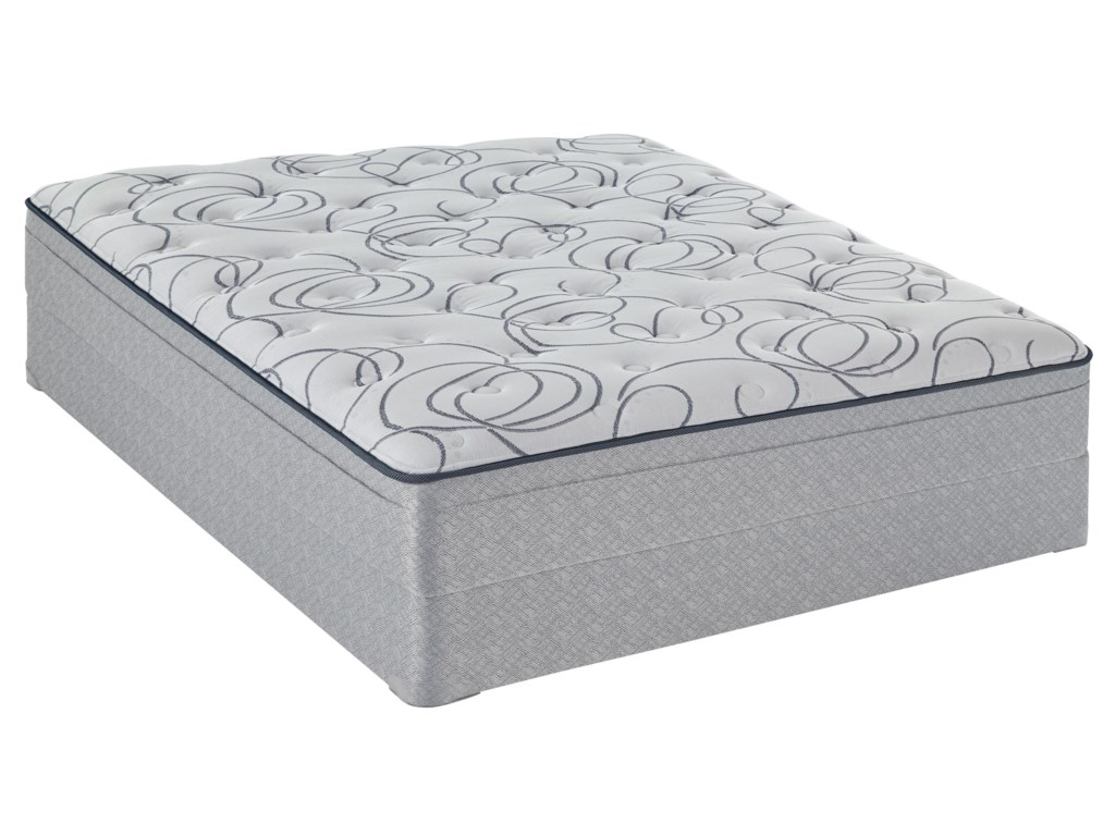 Sealy Sealy Brand Level 3Queen Plush Mattress Low Profile Set