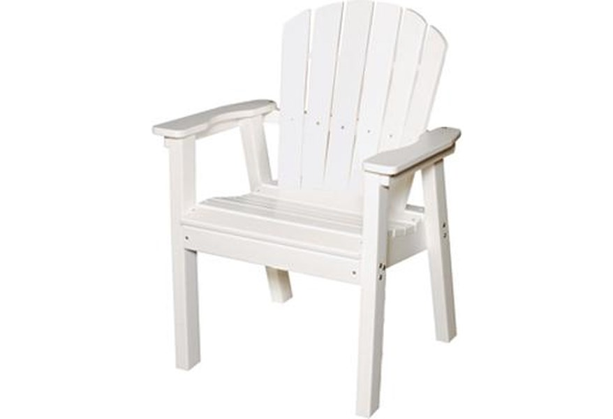 Seaside Casual Adirondack 02021 Shellback Deck Chair W Flat Arms Esprit Decor Home Furnishings Outdoor Chair