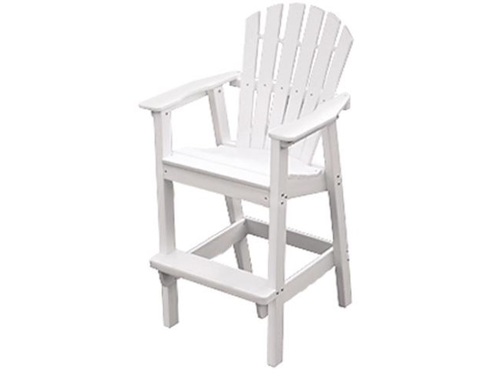 Seaside Casual AdirondackShellback Bar Chair