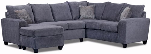 Seminole Furniture 235 Contemporary 5 Seat Sectional with Left Arm Facing Chaise