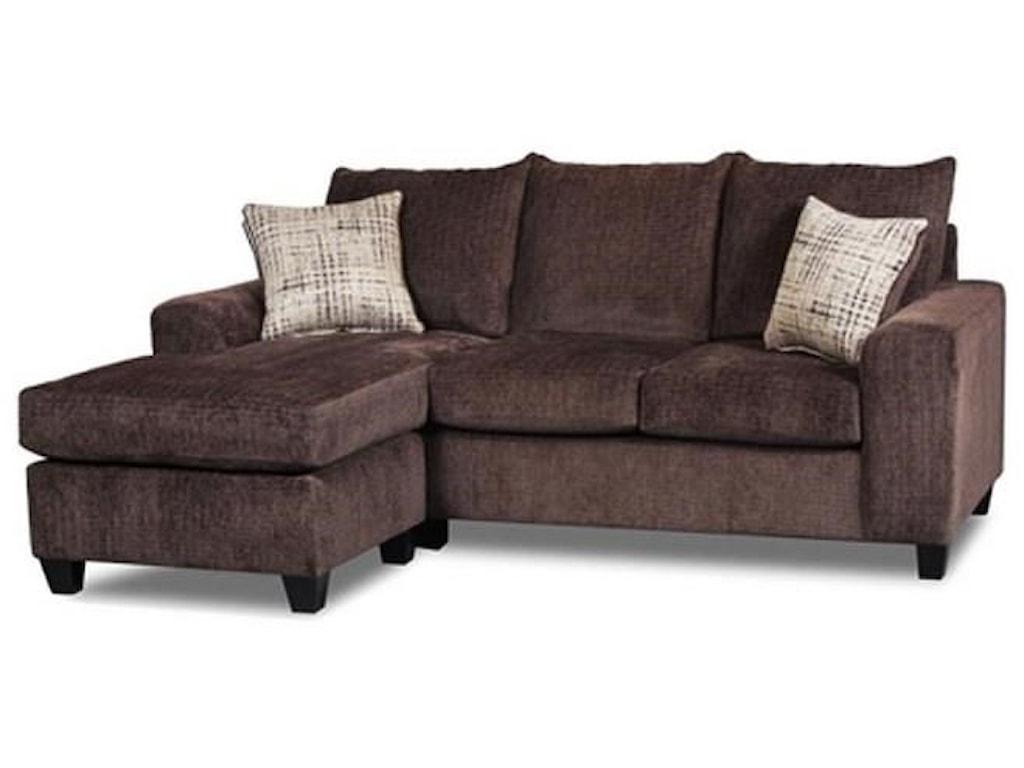 Seminole Furniture UltimateChocolate Sofa Chaise with Ottoman