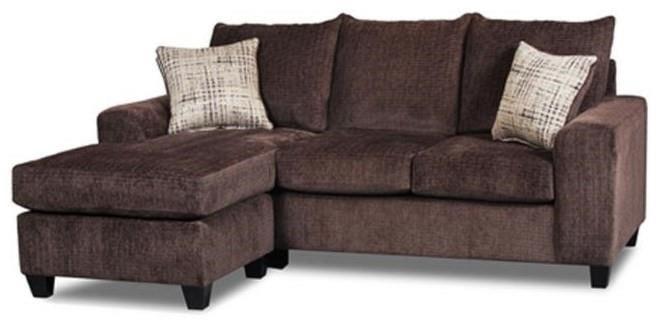 Seminole Furniture 235Ultimate Chocolate Sofa Chaise with Ottoman