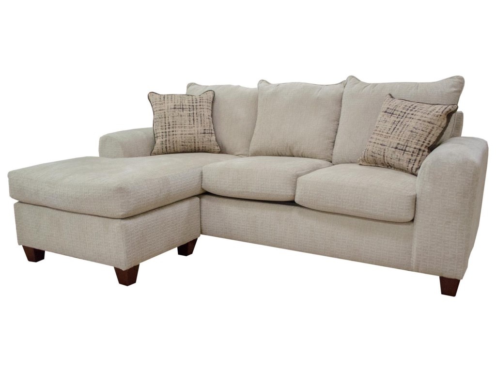 Seminole Furniture 237Ultimate Putty Sofa Chaise with Ottoman
