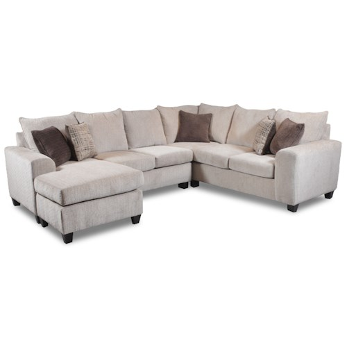 Seminole Furniture 237 Contemporary 5 Seat Sectional with Left Arm Facing Chaise