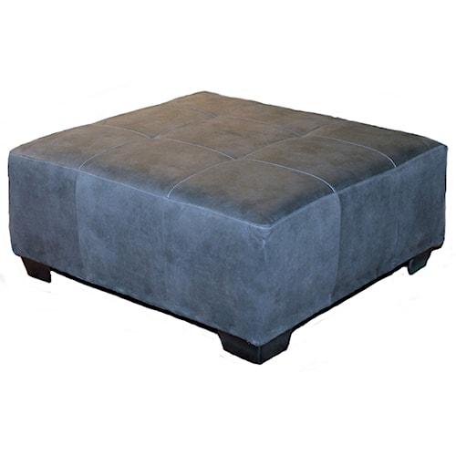 Seminole Furniture 3250 Contemporary Ottoman with Tapered Block Feet