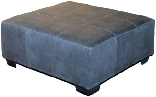 Seminole Furniture 3250 Contemporary Ottoman with Tapered Block Feet