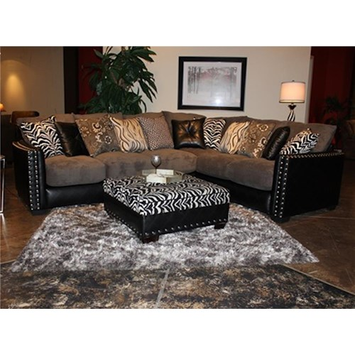 Seminole Furniture 1950 Montery Grey 2pc. Sectional