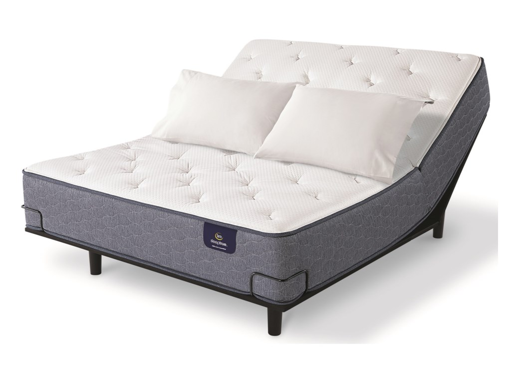 Serta Alverson II FirmKing Pocketed Coil Adj Mattress Set