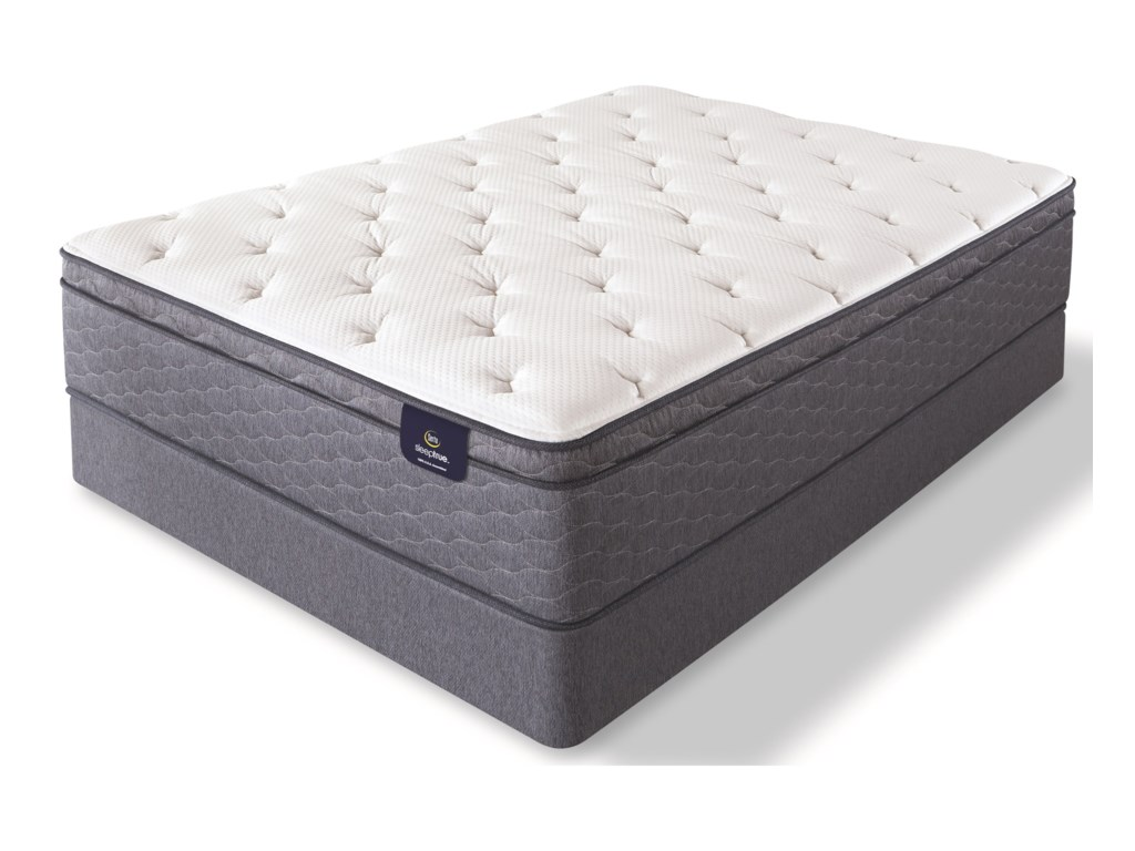 Serta Alverson II Plush ETTwin Pocketed Coil Mattress Set