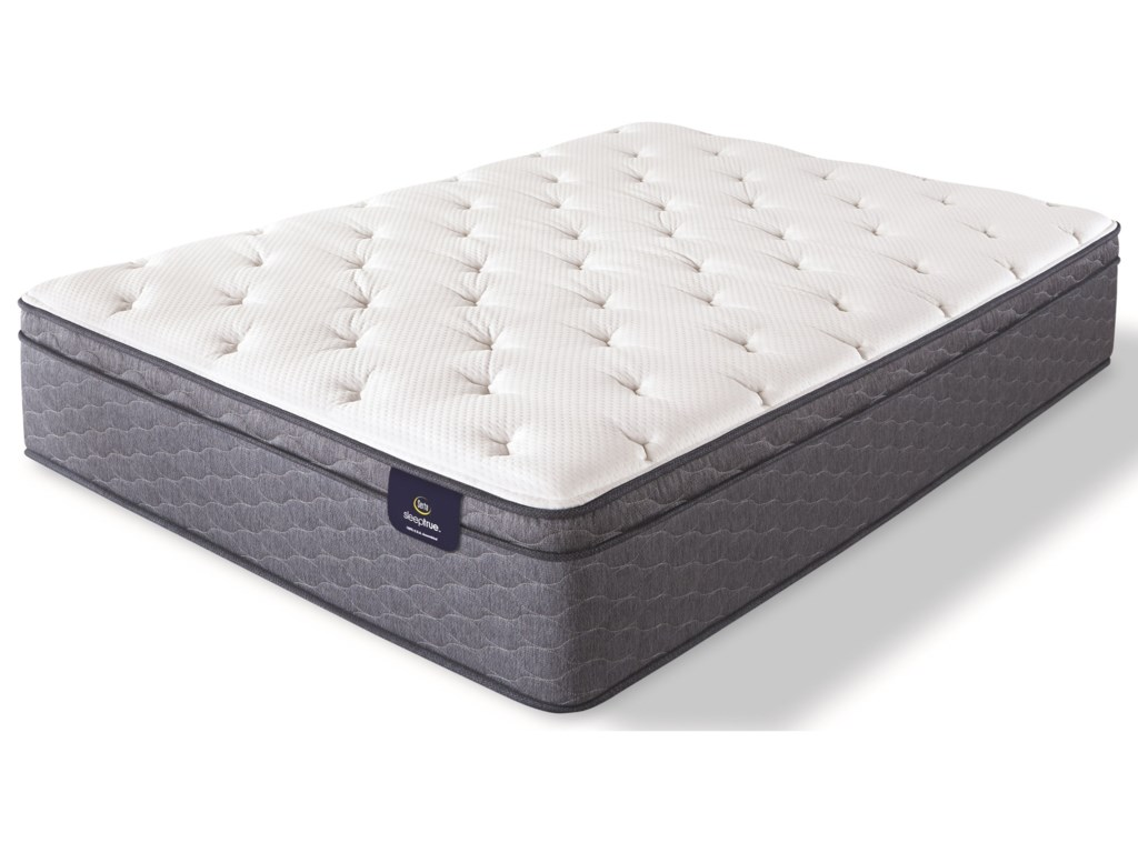 Serta Carterson II Plush EurotopTwin Pocketed Coil Mattress