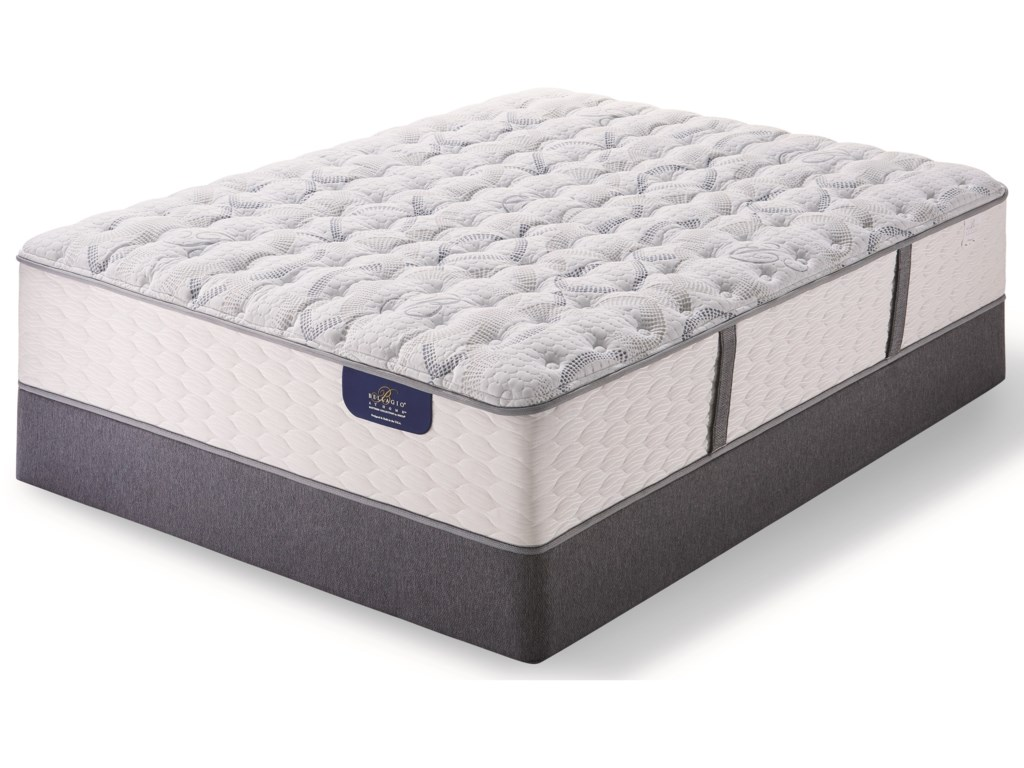 Serta Bellagio Briaza II Lux FirmKing Luxury Firm Pocketed Coil Mattress Set