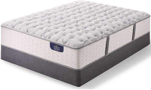Serta Bellagio Briaza II Lux Firm King Luxury Firm Pocketed Coil Mattress and Bellagio Boxsprings