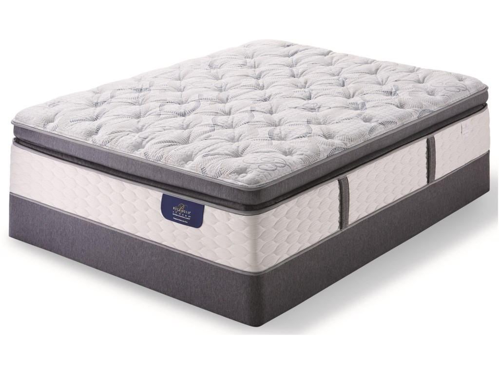Serta Bellagio Grande Notte II Plush SPTTwin XL Plush Super Pillow Top Low Pro Set