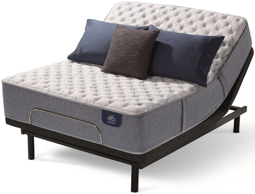 Serta Bellagio La Stravaganza Extra Firm Twin Extra Long Extra Firm Hybrid Mattress and MP III Adjustable Foundation