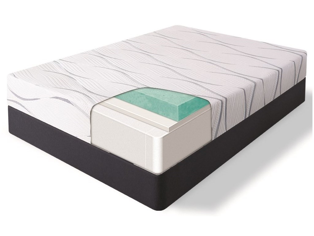 Serta Belspring FirmKing Firm Gel Memory Foam Mattress