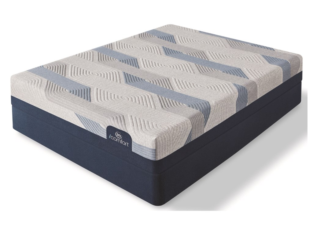 Serta Blue 100CT Gentle Firm 2019Full Gel Memory Foam Mattress Set