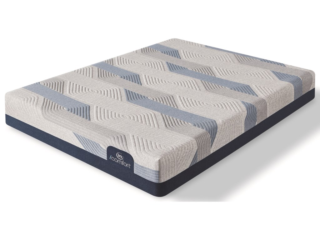Serta Blue 100CT Gentle Firm 2019Queen Gel Memory Foam Adj Set