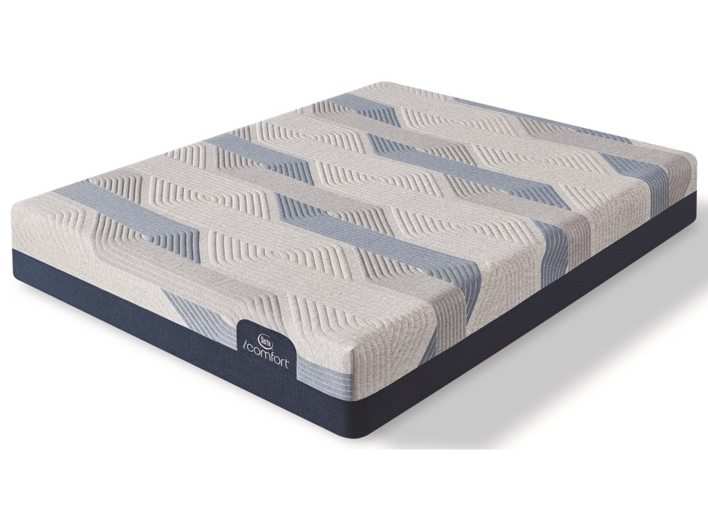Serta Blue 300CT Plush 2019Full Memory Foam Adj Set