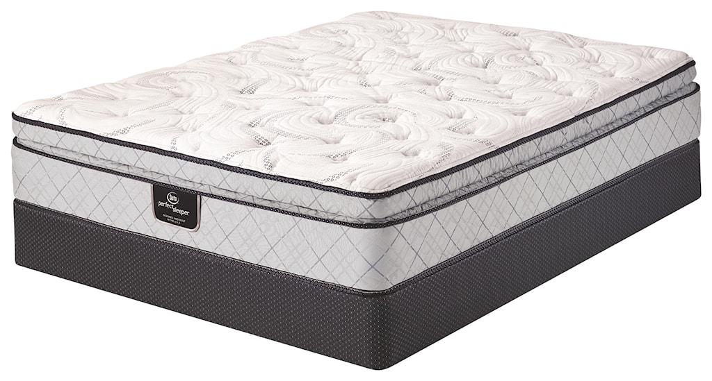 serta dalmore perfect sleeper king euro top mattress and boxspring