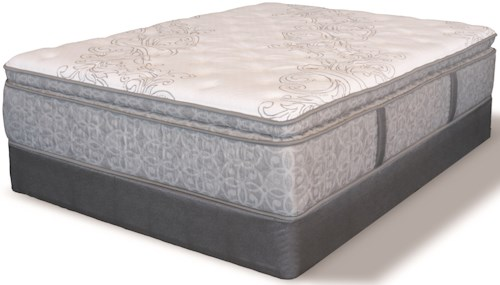 Serta DH Whispering Pines SPT Queen Super Pillow Top Pocketed Coil Mattress and Low Profile 5