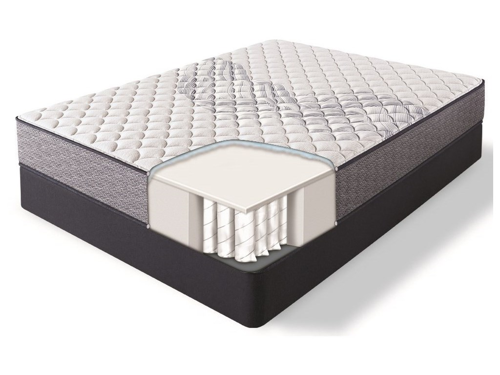 Serta Elkins II FirmQueen Pocketed Coil Adj Mattress Set