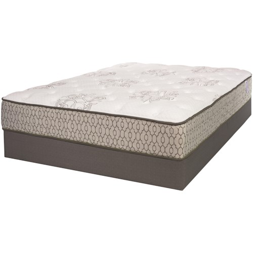 Serta iAmerica Memorial II Twin Extra Long Firm Mattress and Wood Foundation