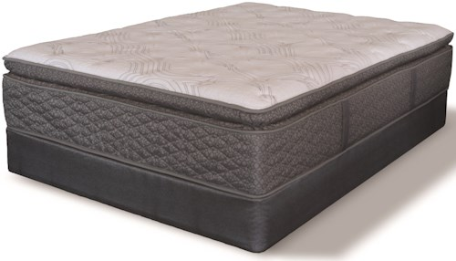 Serta iAmerica Symbolism SPT King Super Pillow Top Pocketed Coil Mattress and 9