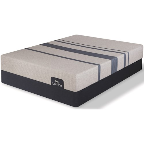 Serta iComfort Blue 100 Gentle Firm Twin Extra Long Gentle Firm Gel Memory Foam Mattress and 9