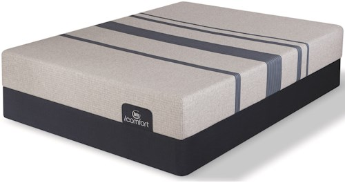 Serta iComfort Blue 100 Gentle Firm Cal King Gentle Firm Gel Memory Foam Mattress and 5
