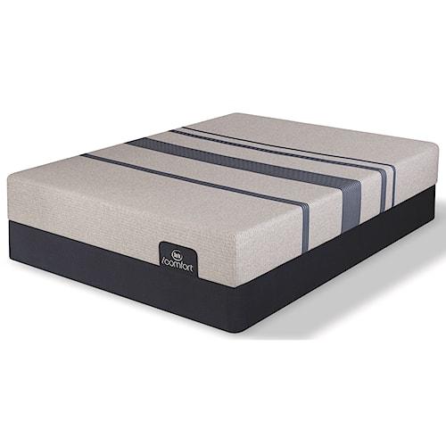 Serta iComfort Blue 100 Gentle Firm King Gentle Firm Gel Memory Foam Mattress and 5