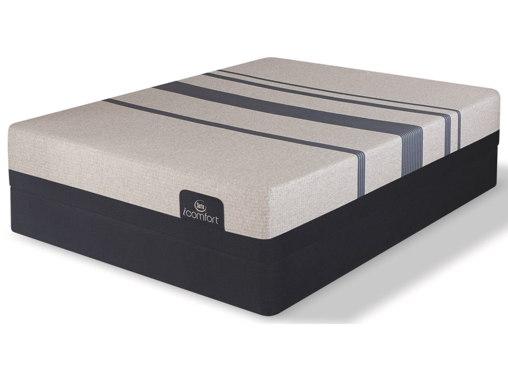 Serta iComfort Blue 300 FirmKing Firm Gel Memory Foam Low Profile Set
